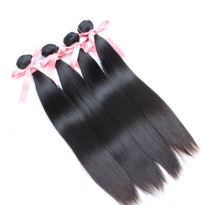 Human Hair Bundles 100% Brazilian Virgin Hair Weaves Silky Straight 8~30 inch Unprocessed Hair Weft Extensions Dyeable Greatremy