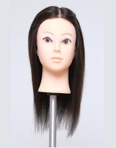 """Großhandel Kostenlose Lieferung! 14 """"menschliches Training Make-up Praxis Kopf Hut Display Friseur Schaufensterpuppen Perücke, kann fein geschnitten werden, Farbe 2114, M00608"""