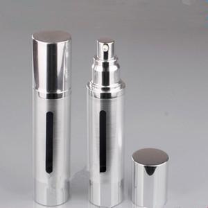 50 ml Vazio Frasco de Perfume Sem Ar Frascos De Vácuo Cosméticos Frasco De Bomba De Prata De Alta Qualidade Emulsão Frasco De Essência Frascos F20171788