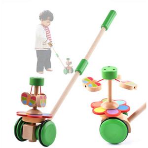 Nuevos niños hechos a mano Niños Trolley de madera Juguete de los niños Rompecabezas de juguetes para niños pequeños Push Pull Juguetes para niños
