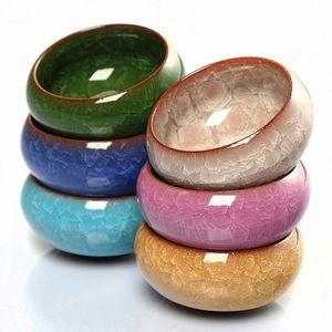Promozione! 6pcs Kung Fu Tea Cup Set Crackle Glaze Viaggi cinese porcellana tazze da tè in ceramica Yixing Purple Clay Tea Service