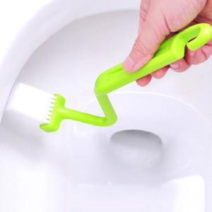 1 قطع المحمولة فرشاة المرحاض الغسيل v- نوع نظافة نظيفة فرشاة عاء عاء مقبض ل تنظيف فرشاة تنظيف الزاوية المنزلية