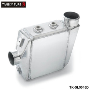 TANSKY- Universal Aluminum Water To Air Turbo Intercooler Front Mount 250 X 220 X 115mm Inlet Outlet: 3.5