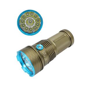 KC-Feuer 13000 Lumen super helle 12 x XML-T6 LED Jagd / Fischen-Blitzlicht-Fackel-Lampe für das Radfahren / das Kampieren / Ausgangsreparatur