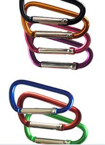 Carabiner 링 Keyrings 키 체인 야외 스포츠 캠프 스냅 클립 후크 Keychains 하이킹 알루미늄 금속 스테인레스 스틸 하이킹 캠핑