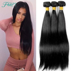 Factory Outlet Straight 3 Bundles 100g / Pcs Natural Black 8A Mongolian Straight Human Weaves Extensiones Full Cuticle Hold