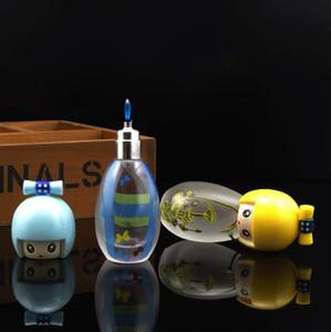 Mini taşınabilir buzlu cam şişe sıcak yangın küçük yangın kişilik alkol lambası, Su boruları, cam bong, cam Nargile, sigara boru