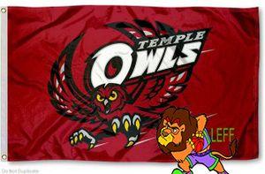 Temple drapeau Owls 3ftx5ft Œillets métalliques Banner Flag Polyester