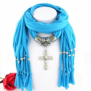 Последние дешевые мода дамы христос шарф прямой завод страсть воскресенье кулон шарфы ювелирные изделия женщины кисть иисус шарфы