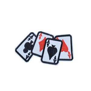 10pcs Tarjeta de juego Un parches para bolsas de ropa Plancha en el parche de apliques de transferencia para niños Jeans DIY coser en la insignia de bordado