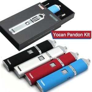 Аутентичные Yocan Pandon QUAD Wax Pen Kit 1300mah батареи комплекты 2 QDC напряжения регулируемые E сигареты комплекты развиваться катушки 4 цвета