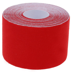 Al por mayor- 1 Roll Sports Kinesiology Muscles Care Fitness Athletic cinta de salud 5M * 5CM - Rojo