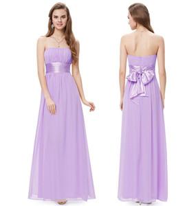 2021 Novo Stock Sexy Longo Chiffon Formal Prom Vestidos Bow Beads Beats Piso-Comprimento Evening Bridemaid Party Denues