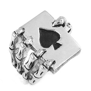 Frete grátis! Claw Spades Poker Ring Aço Inoxidável Jóias Legal Tribal Biker Anel Homens Anel SWR0186B