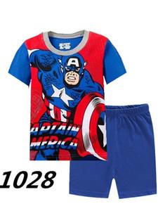 Erkek Pijama Çocuklar Yaz Giyim Süper Kahramanlar Çocuk Pijamas Karikatür Mektup T-Shirt + Şort Erkek Pijama Çocuklar Pijama Setleri