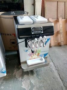Ücretsiz Gönderi ETL CE Kolice Hotsale CE 2 + 1 Karışık 3 Tatlar Masaüstü Mini Yumuşak Dondurma Makinesi Tezgah Yoğurt Dondurma Makinesi