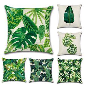 Foglie di lusso di foresta pluviale Cuscino Federa Tessile per la casa fornisce cuscini decorativi sede della sedia Preferenze