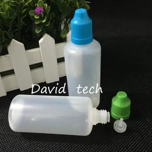 botellas al por mayor de alta calidad 60ml botella de plástico vacía Botellas Liquid E plástica del cuentagotas con el niño tapas a prueba y puntas de aguja