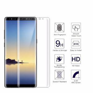 Proteggi schermo in vetro temperato laterale curvo 3D 0.2MM 9H per Galaxy Note 8 bordo S8 S7 bordo S6 Plus A5 2017