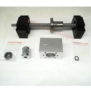 Бесплатная доставка SFU1204 комплект: SFU1204 л-400 мм проката шариковый винт C7 с конца механической обработке + 1204 шариковая гайка + гайка корпус+и BK/BF10 конца поддержки + муфта