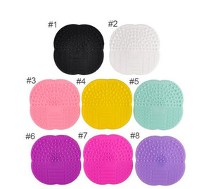 Hot Silicone Makeup Brush cosmetic brush Cleaner Cleaning Scrubber Board Mat washing tools Pad Hand Tool