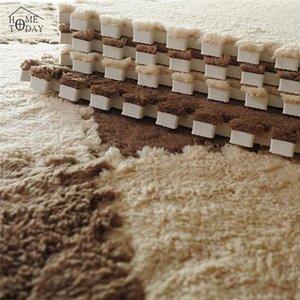 1PC 7Colors Plush Puzzle Mats Soft 31*31cm Foam Shaggy Velvet Carpet Kitchen Jigsaw Table Mat Fabric Carpet Decorative kids room