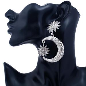 2017 marchio stella luna ciondola gli orecchini lampadario Boho Vintage Geometria catena d'oro orecchini di goccia per le donne gioielli dichiarazione all'ingrosso