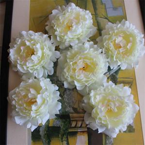 """HOT Silk Peony Flower Head Dia. 15cm / 5.91 """"Fiori artificiali Peonia pieno aperto per accessori Birdie Bouquet copricapo fai da te 5 colori"""