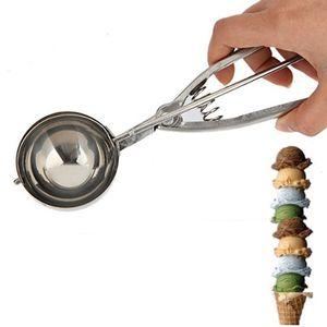 Großhandels- 4CM 5CM 6CM Küche-Eiscreme-Brei-Kartoffel-Schaufel-Edelstahl-Löffel-Frühlings-Griff-Küchen-Zusätze