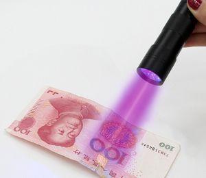 Epacket gratuit, 12 LED ultraviolette lampe UV lampe torche lampe de poche violet lumière pour la détection de devise (4 couleurs)