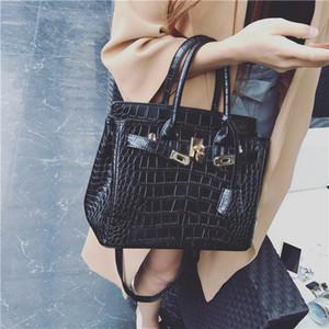 Verkauf hochwertige Marke Design Damen Tasche Tote Damen Handtasche Patent Pu Leder geprägtes Muster Frauen Messenger Bag