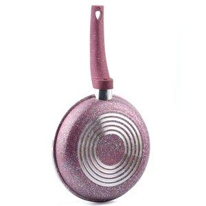 100% бренд 8-дюймовый Non -Stick Skillet Медь жаровни Гриль Кастрюли круглой формы Cooking Pan Professional Сковорода инструменты кухни Газовая плита