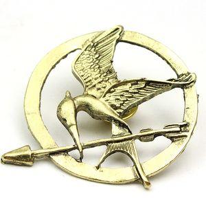 Neue Mode der Hunger Spiele Mockingjay Pin Heißer Film Vogel Broschen für Frauen Männer Silber Bronze goldene Farben Geschenk Pins Großhandel 60 Teile/Los