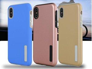 Gros broyage sable 2 en 1 coque de téléphone portable iphone8 anti-slam coquille dure nouvelle