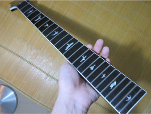 24 Frets Maple Electric Guitar Neck Tastiera in palissandro intarsio uccello Parti di chitarra Accessori per strumenti musicali