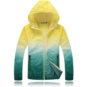 Encontrar мужская легкая водонепроницаемая куртка с Hat тонкий с капюшоном куртка мужчины дышащая летняя куртка женщины любитель повседневная мода