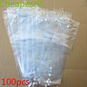 Atacado sacos de plástico pvc para embalagem extensão do cabelo transparente sacos de embalagem de plástico saco de opp (16 ~ 22 polegadas) saco de embalagem da peruca