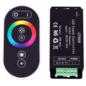 Controller 5PCS GT666 18A RF Wireless Touch RGB LED para RGB LED pela 6Ax3 Channel Touch Panel