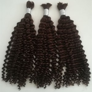 Grado 5a pelo virginal brasileño de la onda profunda 100 g / set 3 unids / lote sin trama de pelo humano de la trama para trenzar productos para el cabello no procesados DHL libre