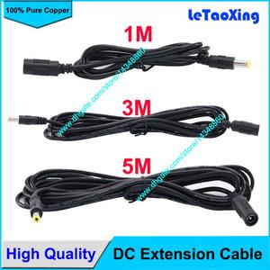 100 pz DC Power Female to Male Plug Cavo adattatore DC prolunga 5/3/1 Meter 5.5mm x 2.1mm Spedizione gratuita