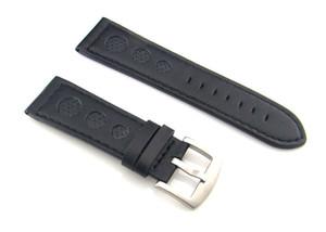 P150 черный 26 мм Кожаный ремешок ремешок из нержавеющей стали пряжки
