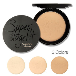 Wholesale-Hot 2 in1 Face Powder Cake Skin Wet & Dry Oil Control Concealer Palette Make Up Sugar Box Maquiagem
