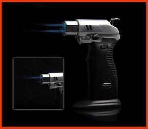 Ücretsiz Kargo AOMAI Çift alev Lehimleme Lehim Ayarlanabilir Alev Bütan Gaz Jet Sigara Kaynak Torch Çakmak