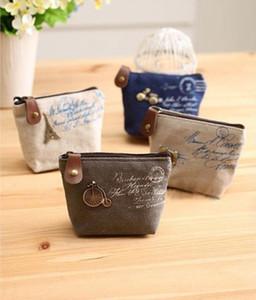 2016 yeni kadın kanvas çanta Bağbozumu Para anahtarlık tuşları cüzdan Peyzaj Çanta değişim cep tutucu organize kozmetik