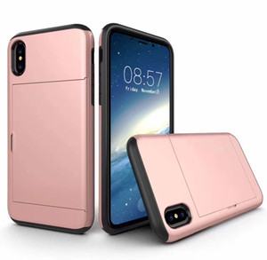 SGP spigen case Slide Card Slot Wallet ID Case Dual Layered -ShoAntick Protector for iPhone11 pro max x r 7 8 plus Samsung Note10 9 S10 S9