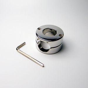 Hot Steel Device New UK Men Ball Schwere Männchen Fetisch Keuschheit Edelstahlung # R172 Uvsuo