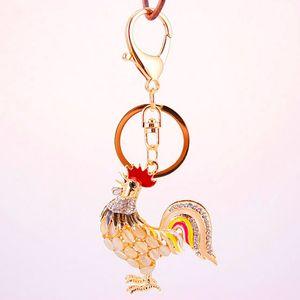 Cock Key Ring Ring Holder - Rooster Chicken Car Keychain Keyring - Fashion Men Women التذكارات حقيبة قلادة