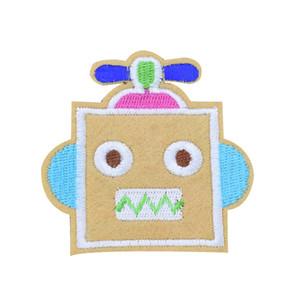 10PCS Robot Parches para Ropa Bolsas de Hierro en la Aplicación de la Transferencia Parche de Dibujos Animados para Niños Pantalones Vaqueros DIY Coser en la Insignia Del Bordado