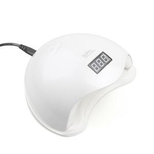Горячие 48W UV LED лампы для ногтей Сушилка SUN5 Nail лампа с ЖК-дисплеем Автоматический датчик Manicure машина для отверждения УФ-гель польский