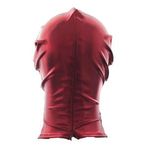 Fetisch Open Mouth Restraint Men Hood Bondage Maske Frauen GIMP Rollenspiele Cosplay # R501 Trpib